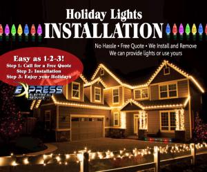 install christmas light, christmas lights installer, christmas lights install durham