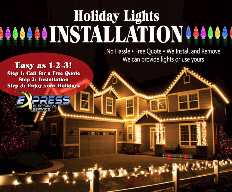 Install Christmas Lights Electrician Raleigh Emergency