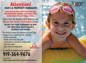 pool inspection raleigh, electrical pool inspection, electrical pool inspection cary, pool inspection apex