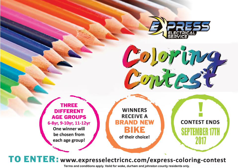 coloring contest raleigh, coloring contest durham, coloring contest cary